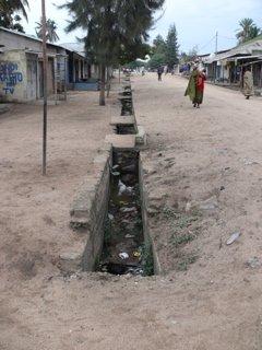 Open drain in Musoma, Tanzania