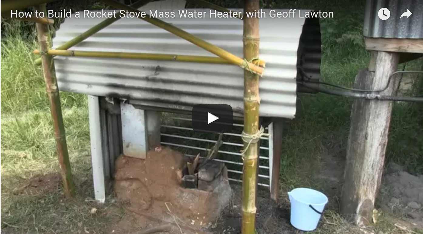 How to build a rocket stove mass water heater for How to build a rocket stove water heater
