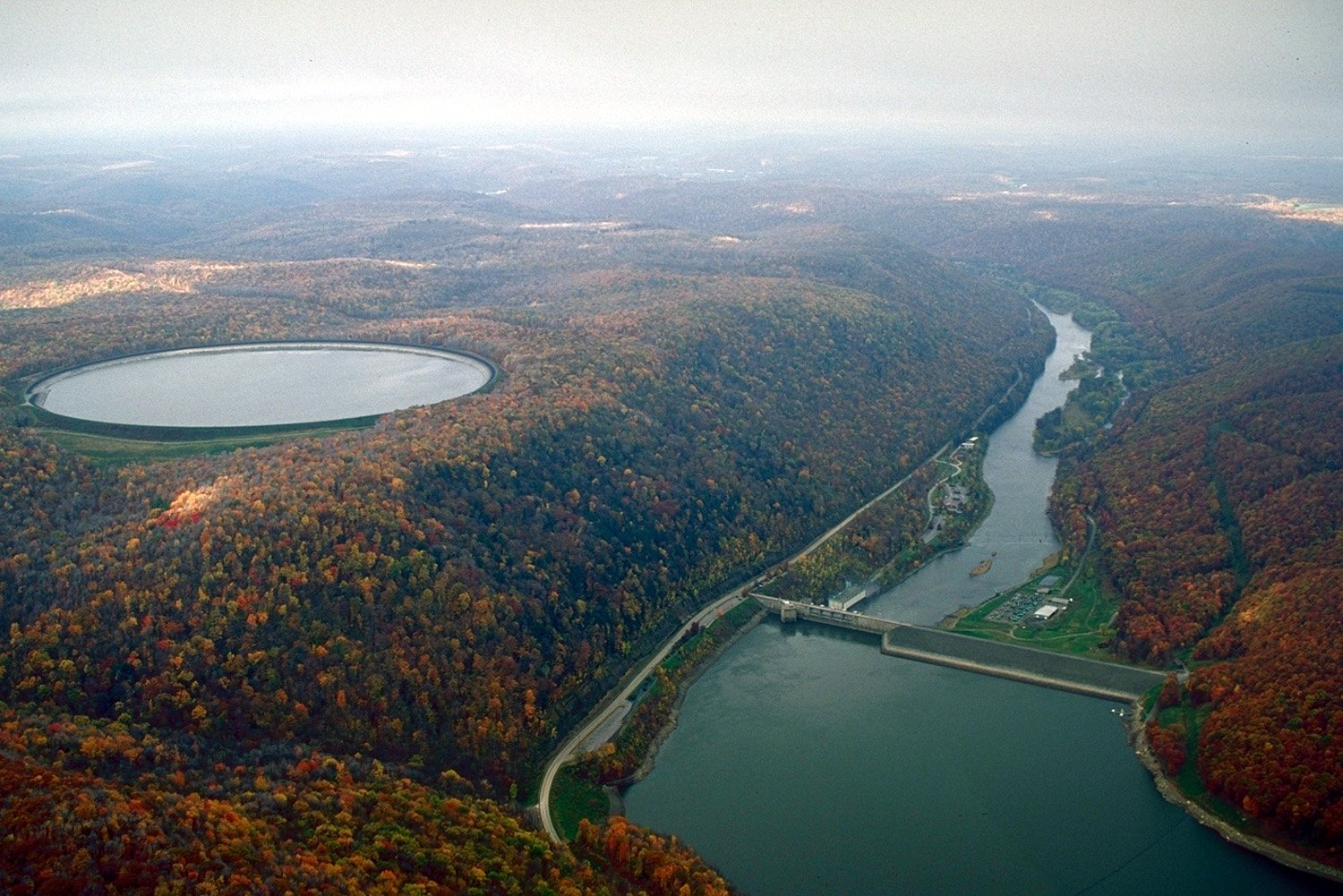 the permaculture research instituteseneca pumped storage generation station, a hydroelectric power plant in pennsylvania in warren county,