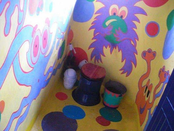 A Funky Eco-Outhouse Composting Toilet (Courtesy of SuSanA Secretariat)