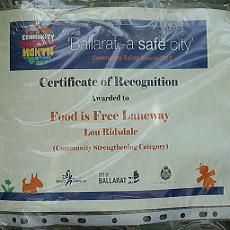 Food is Free Laneway in Ballarat