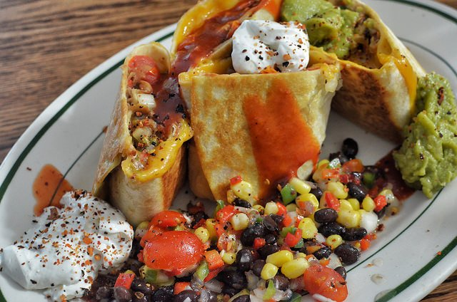 Burritos with corn salad (Jeffreyw)
