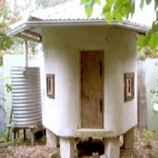 Insulated Straw Bale Chicken House
