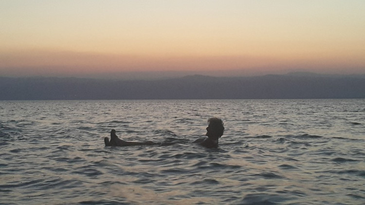 """Floating"" in the Dead Sea."