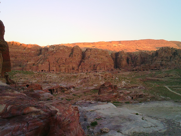 The main valley of Petra.