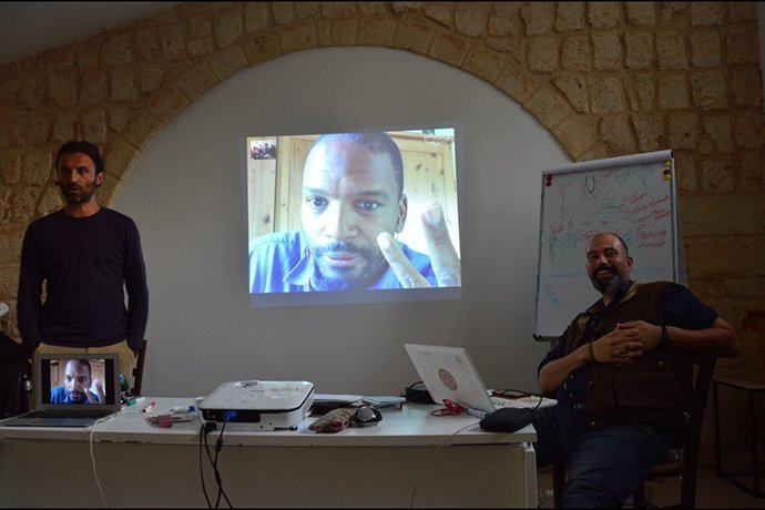 Teaching in South Italy with Rhamis Kent and Ignazio Schettini.