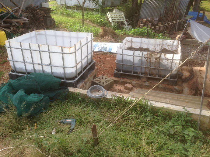 The worm farms being set up to drain into another drainage system if the worm juice isn't harvested.