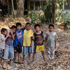 Kids in Casa Guatemala Who Helped Us with a Soil Rebuildng and Erosion Prevention Project