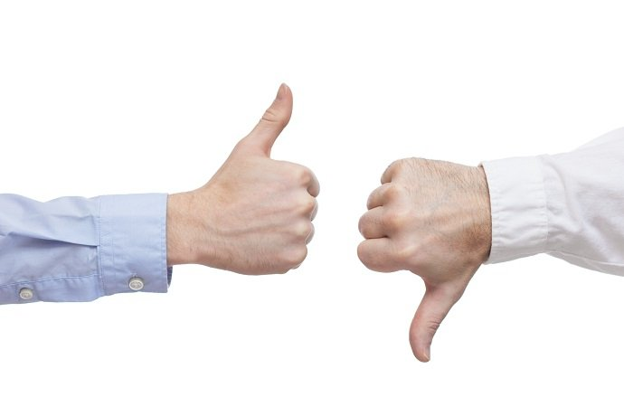 Two executives or businessmen disagreeing over a deal