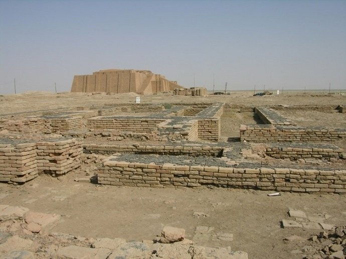 Ancient Ur of Sumer in Iraq Founded 3800 BC: M. Lubinski: CC 2.0