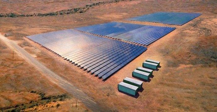 4,000m2 Solar Battery Array: Lyon Group