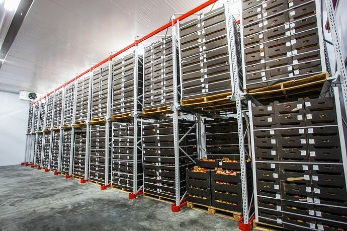 Factory warehouse stock boxes