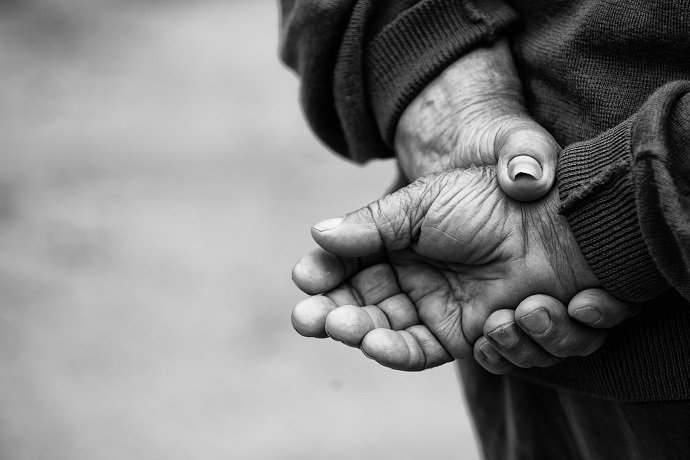 farmer's Hands  of old man who had worket hardly in his life