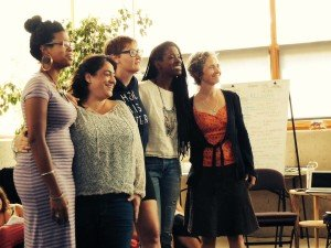 Lisa DePiano and Pandora Thomas facilitated the first Permaculture Teacher Training for Women at Omega Institute in August of 2015. Shown here with their teaching team: Tarah Hines, Monica Ibacache, Lisa Depiano, Pandora Thomas, and Karryn Olson-Ramanujan Photo credit: Angie Gonzalez