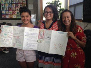 Using our expertise to provide much-needed services in unfilled niches: Antonia Perez, Cynthia Espinosa Marrero and Lala Montoya-Williams collaborate to deliver permaculture-based green job training to Spanish-speaking immigrants