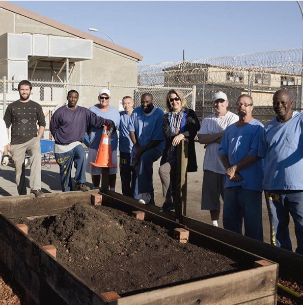 The garden class at San Quentin state prison