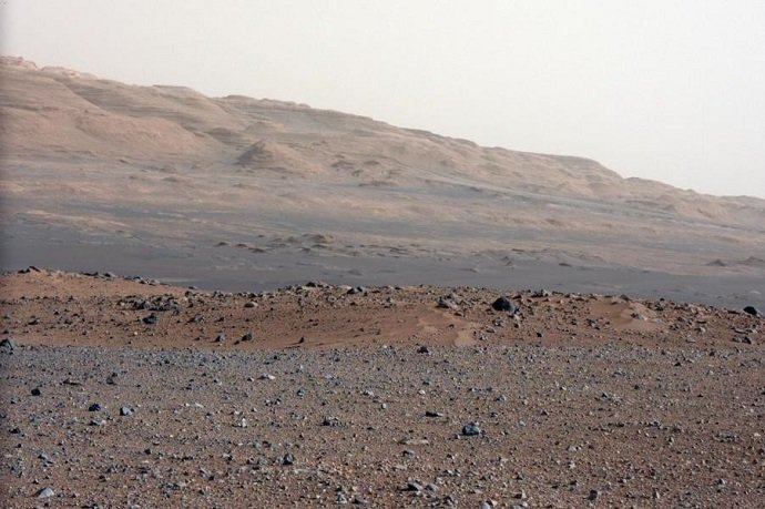 Test Image by Curiosity Rover: NASA: Public Domain