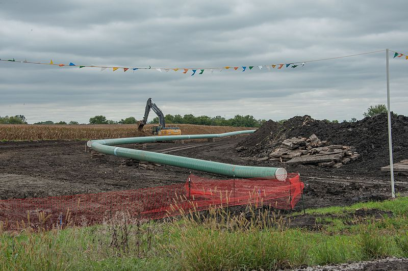 Dakota Access Pipe Line, Central Iowa. Source Wiki.