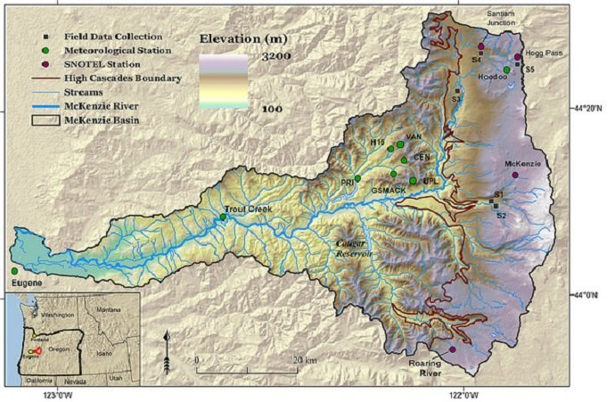 McKenzie River Watershed (Courtesy of Oregon State University)