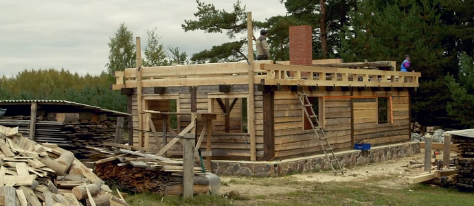 The Birth Of A Wooden House: Carpentry And Resilience In Latvia   The  Permaculture Research Institute