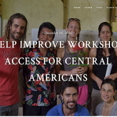 Help Improve Workshop Access for Central Americans feat