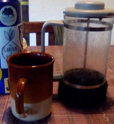 French press instead of electric coffeemaker. Photo Credit: Jonathon Engels