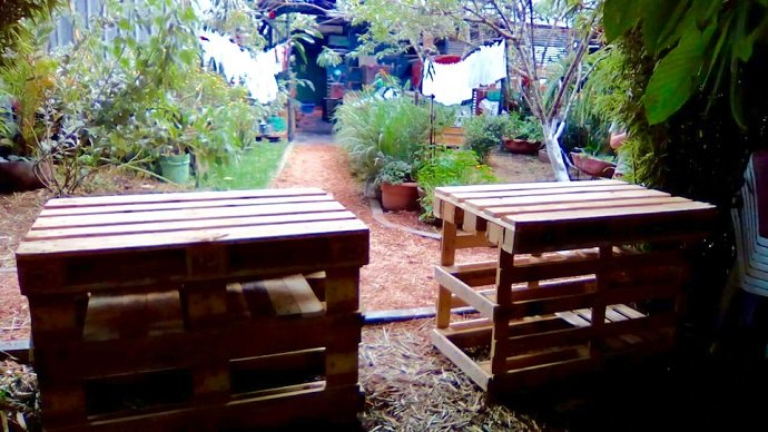 Sturdy Pallet Tables. Image Courtesy - Jonathon Engels
