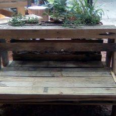 Vertical Garden Bench