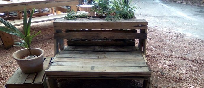 Vertical Garden Bench