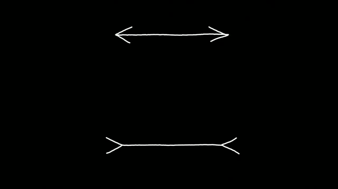School test, which line is longer?