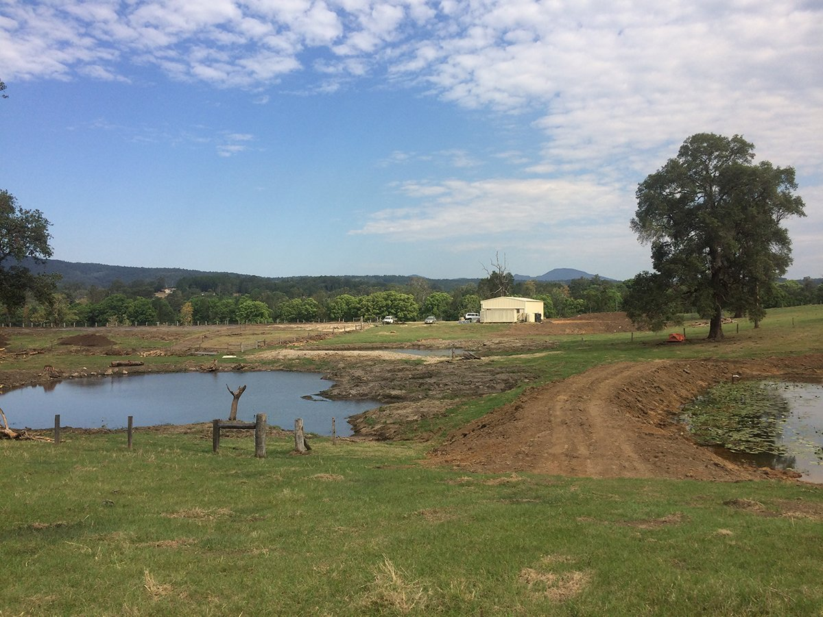 Photo of Win-Win Situation. Retrofitting Farm Dams to Increase Freeboard and Increase Wildlife Habitat and Productive Edge