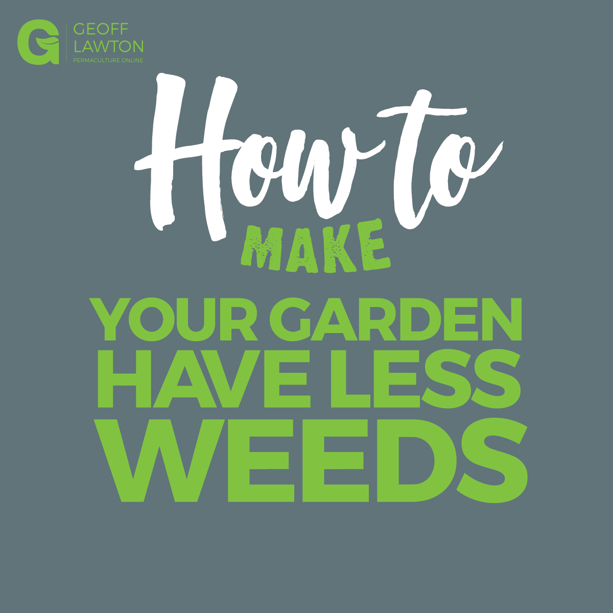 Photo of How to make your garden have less weeds?