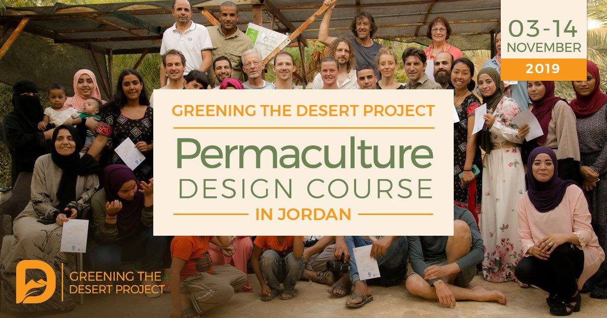 Permaculture Design Certificate at the Greening The Desert Project PRI Jordan