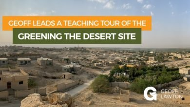 Photo of Geoff Lawton Leads A Teaching Tour Of The Greening The Desert Project